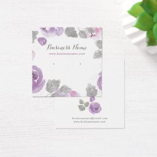 Cartões do brinco do fundo dos rosas da aguarela