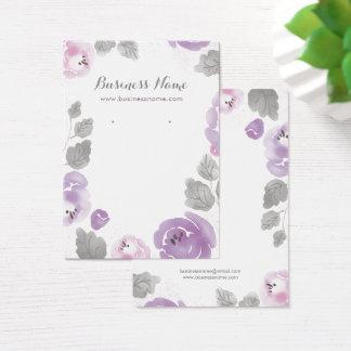Cartões do brinco do fundo dos rosas do Lilac da