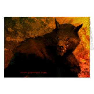 Cartões do busto do homem-lobo