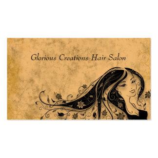 Cartões do cabeleireiro do salão de beleza cartão de visita