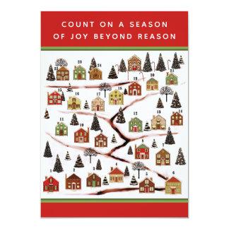Cartões do calendário do advento do Natal