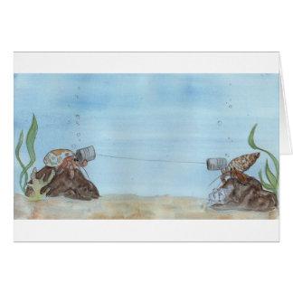 Cartões do caranguejo de eremita