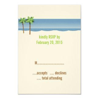 Cartões do casamento de praia RSVP das palmeiras Convite 8.89 X 12.7cm
