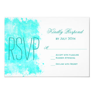 Cartões do casamento de praia RSVP do Aqua de Convite 8.89 X 12.7cm