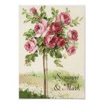 Cartões do casamento vintage RSVP Convites Personalizado