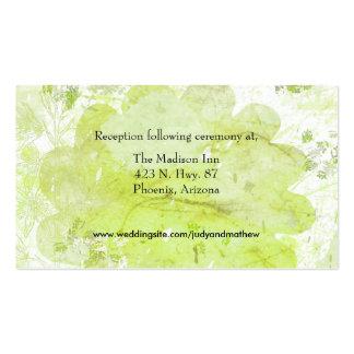 Cartões do cerco do casamento cartão de visita