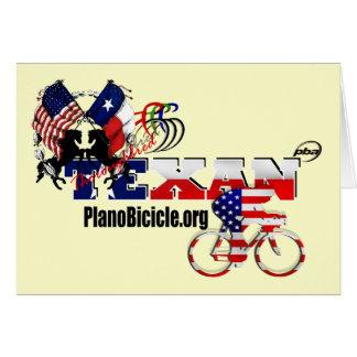 Cartões do ciclista do Texan do puro-sangue