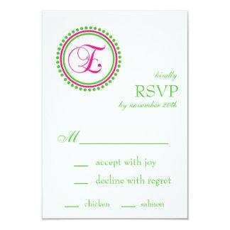 Cartões do círculo RSVP do ponto do monograma de E Convite 8.89 X 12.7cm