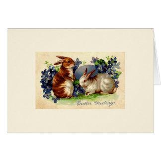 Cartões do coelhinho da Páscoa do vintage