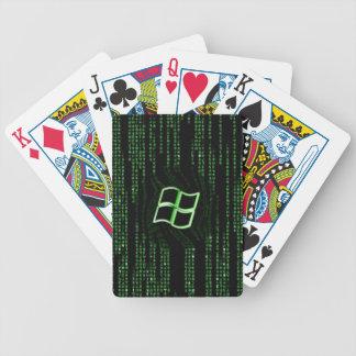Cartões do computador da matriz do geek baralho para pôquer
