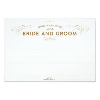 Cartões do conselho do casamento convite 8.89 x 12.7cm