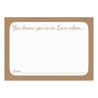 Cartões do conselho do chá de panela cartão de visita grande