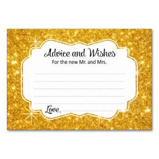 Cartões do conselho e dos desejos do casamento da