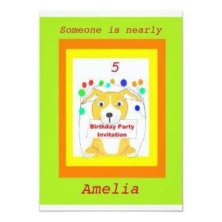 Cartões do convite de aniversário