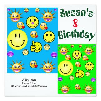 cartões do convite do aniversário das crianças