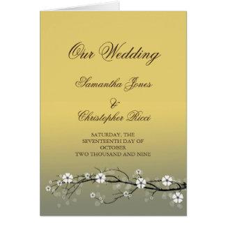 Cartões do convite do casamento com flores