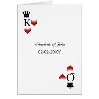 cartões do convite do casamento de vegas