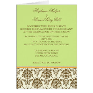 Cartões do convite do casamento do chocolate e da