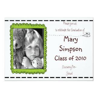 Cartões do convite do pré-escolar da graduação