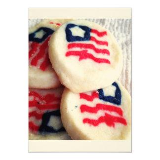 Cartões do convite dos EUA América da bandeira dos