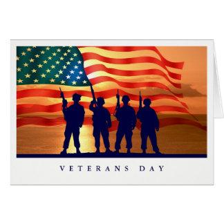 Cartões do costume do dia de veteranos