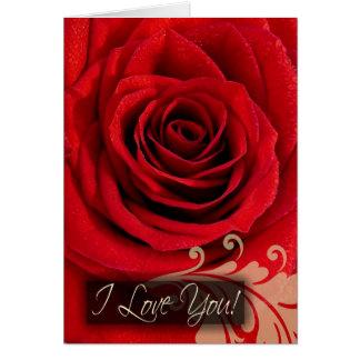 Cartões do costume eu te amo redemoinho da rosa v
