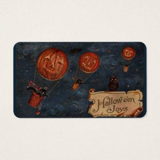 Cartões do deleite das alegrias do Dia das Bruxas