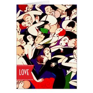 Cartões do design do art deco do feliz dia dos