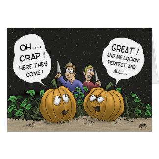 Cartões do Dia das Bruxas engraçado: Perspectiva