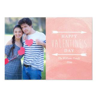 Cartões do dia dos namorados da aguarela convite 12.7 x 17.78cm