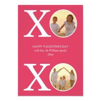 Cartões do dia dos namorados de XOXO Convite 12.7 X 17.78cm
