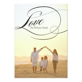 Cartões do dia dos namorados do amor | convite 12.7 x 17.78cm