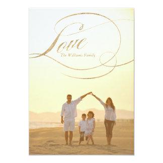 Cartões do dia dos namorados do amor | do ouro convite 12.7 x 17.78cm