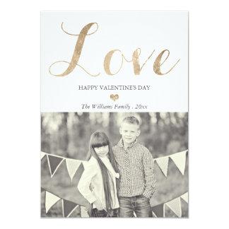 Cartões do dia dos namorados do amor do ouro convite 12.7 x 17.78cm