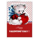 Cartões do dia dos namorados do urso de ursinho do