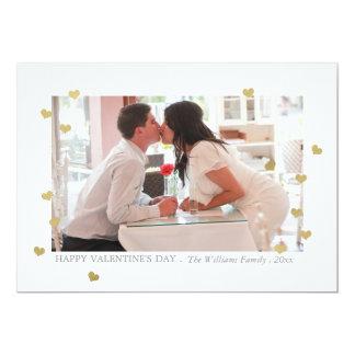Cartões do dia dos namorados dos confetes do convite 12.7 x 17.78cm