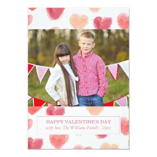 Cartões do dia dos namorados dos corações | da convite 12.7 x 17.78cm