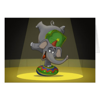 Cartões do elefante do circo