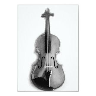 Cartões do esboço do violino