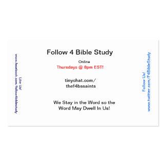 Cartões do evangelista de F4BS (100 ct) Cartão De Visita