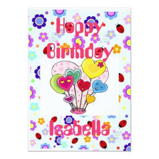 Cartões do feliz aniversario do costume 5x7 convite 12.7 x 17.78cm