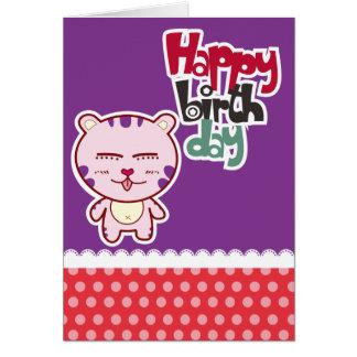 Cartões do feliz aniversario do tigre