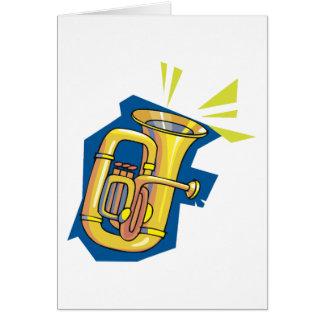 Cartões do instrumento da tuba