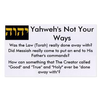 Cartões do intervalo de Torah Cartão De Visita