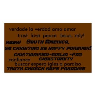 Cartões do intervalo do evangelismo das almas da cartão de visita