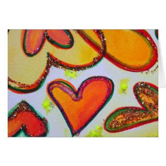 Cartões do jardim dos corações do riso e cartões