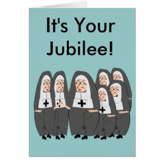 Cartões do jubileu da freira