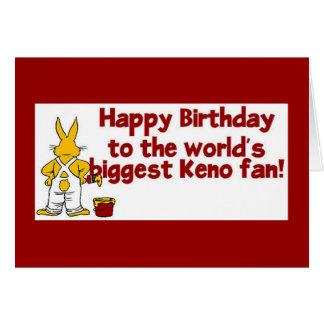 Cartões do Keno: Fã do Keno do feliz aniversario