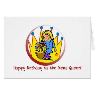 Cartões do Keno: Feliz aniversario à rainha do