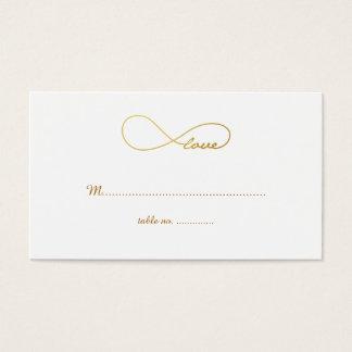 Cartões do lugar da mesa do casamento da